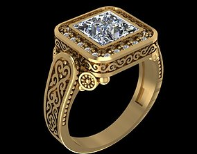 3D print model platinum JEWELRY RING