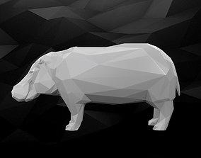 3D Printable Hippo Model