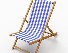 3D model deck Beach Chair