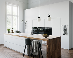 White Kitchen by Kvik 3D model