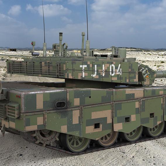 Tank China Type ZTZ 99A MTB Vray 3D Model