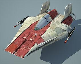 Game Ready Star Wars RZ-1 A-wing interceptor 3D model