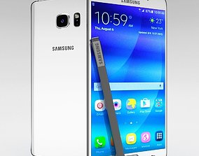 Samsung Galaxy Note 5 White Pearl 3D model