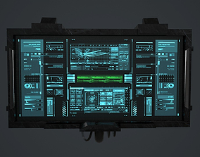 3D model Sci-Fi Screen - television VideoGame