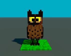 Voxel owl 3D model