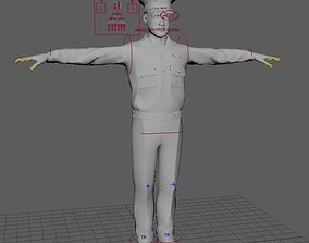rigged Us Officer Model