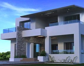 3D model Beautiful house