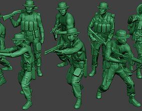 3D Modern Jungle Soldiers MJS1 Pack 3