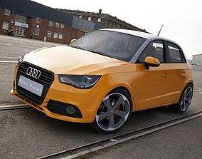 Audi A1 Sportback orange 3D model