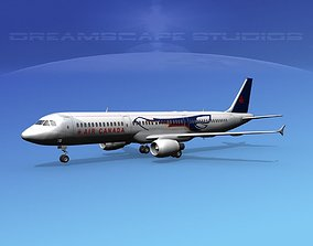 Airbus A321 Air Canada Eagle 3D model