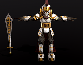 3D asset Spartan Paladin Stylized Character
