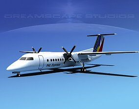 3D model DeHavilland DHC-8-Q300 PAL Express