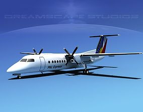 3D model DeHavilland DHC-8-Q300 PAL Express