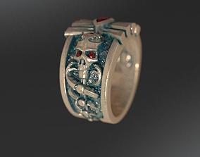 3D print model Ring Skull Snake