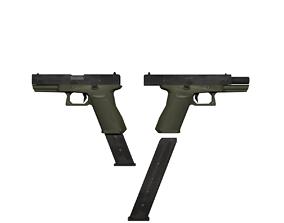 Pistol Glock 18 3D asset
