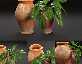 3D rustic pot vase