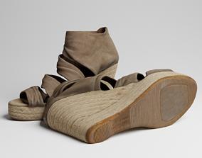 Womens Sandal 3d scan foot PBR