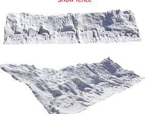 3D model Snow fence scan