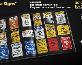 Corona Hazard Signs - 30 decal Textures - SP Bonus 3D