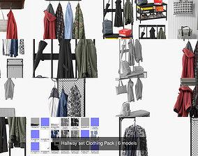 Hallway set Clothing Pack 3D model
