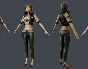 Girl warrior beautiful 3D model