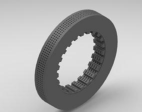 F1 CAR CERMIC VENTILATED BRAKE DISC 3D model