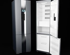 3D model Silver Modern Refrigerator