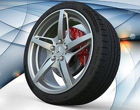 Full Wheel Mercedes Benz AMG GT S 3D asset