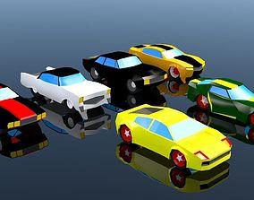3D model Low Poly Car Pack 03