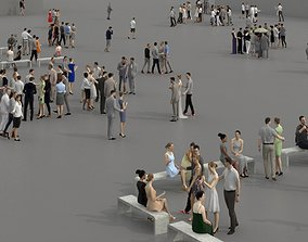 VR / AR ready 3D PEOPLE CROWDS -PLAZA SQUARE - ULTIMATE 1