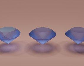 Low poly Diamonds 3D model