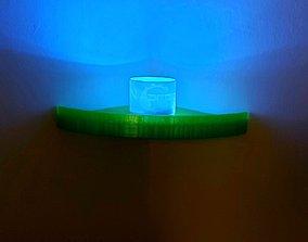 Corner shelf 3D printable model