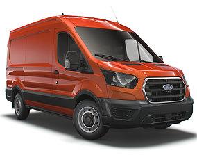 Ford Transit Van UK spec L2H2 Leader 2020 3D