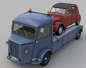 CITROEN HY TRUCK 1950 and CITROEN 2CV 1957 3D