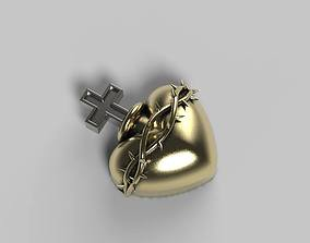 3D print model Heart pendant Hollow for Ashes