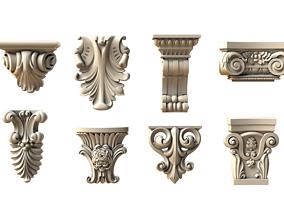 set carved bracket 2 3D print model