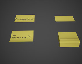 Sticky Notes Low Poly Game Ready 3D model