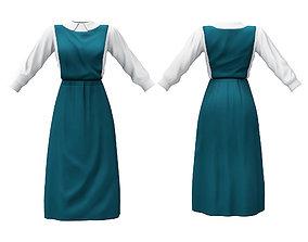3D asset Anime Style Maid or School Uniform