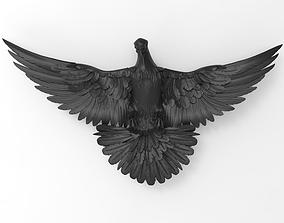 Dove base relief for CNC 3D print model