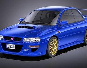 Subaru Impreza STI 22B 1993-2000 VRAY 3D