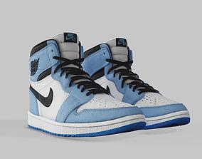 3D asset Jordan 1 University Blue