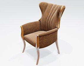 classic modern chair 3D model upholstery