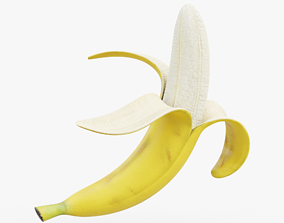 Peeled Banana 02 3D asset