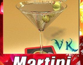 3D model Martini Liquor Glass