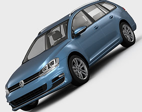 Volkswagen Golf 7 Variant 2013 germany 3D