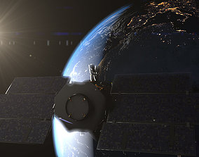 3D Photorealistic Earth and cloudsat satellite