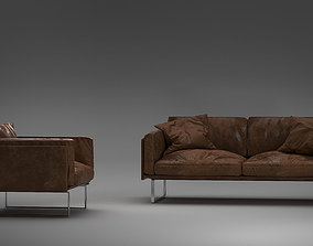 cassina otto couch HQ 3d model