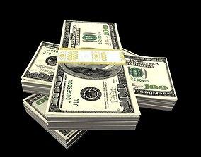 money dollars pack 3D