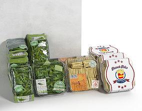 3D model Packed Vegetables 2