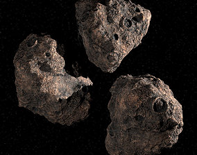 3D Three Asteroids